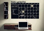 Simoshaw Chalkboard Calendar with Memo Wall Decal Removable waterproof Vinyl Wall Sticker Wall Art Fashion Sticker