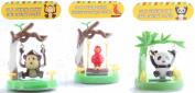 Solar Swinging Panda, Monkey, Parrot Set - Toys/Novelty/Birthday /Favours/Party Supplies