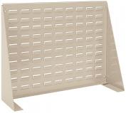 Akro-Mils 98600 Louvred Steel Panel Bench Rack for Mounting AkroBins, 70cm L by 50cm H by 22cm W, Beige