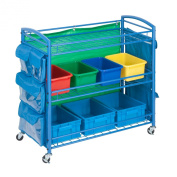 Honey-Can-Do CRT-03477 All Purpose Rolling Activity Cart, 90cm by 60cm , Blue