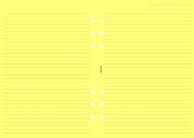 Filofax A5 Ruled Notepaper - Yellow