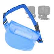 DURAGADGET GoPro Hero4 Session Camera Case - Light Blue Travel Water-Resistant Waist-Pouch Style Case with Strap for the NEW GoPro Hero4 Session / Session Surf Action Camera