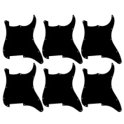 Kmise A6707 Guitar Pick Guard Blank/Outline Scratch Plate 3-Ply for Fender Strat Replacement, 6 Pieces, Black