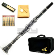 SKY Black Ebonite ABS Bb Clarinet with Case, Mouthpiece, 11 Reeds, Care kit and more