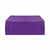 150cm x 320cm Polyester Rectangular Tablecloth Wedding Table Linens - Purple