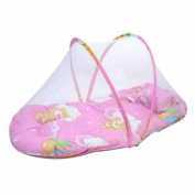 Sunward Hot! Baby Bed Mosquito Net with Cushion Portable Folding Crib Mattress