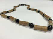 Hazelwood Necklace 19 inch Black Onyx for adult for Gut issues; Eczema, Acid Reflux, heartburn, and ulcers. 100% Satisfaction Guaranteed. 50 cm 19 inches, Black Onxy is also for anxiety, Stress, and Adult ADHD