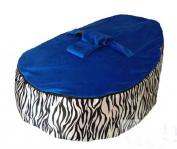 LCY Baby Bean Bag Chair Zebra Print Dark Blue-UNFILLED