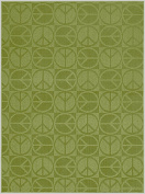 Garland Rug Large Peace Area Rug, 2.1m by 2.7m, Lime