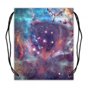 Nebula Galaxy Space Universe Basketball Drawstring Bags Backpack, Sports Equipment Bag - 42cm (W) x 49cm (H), Twin-sided Print