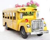 Zenness Collectibles Tinplate Models School Bus Models Yellow