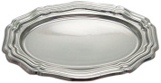 Firefly Imports Heavy Duty Banquet Dinner Dining Reflective Metallic Plastic, 41cm , Silver