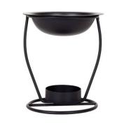 Black Iron Oil Warmer, 11cm tall