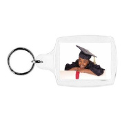 Plastic Photo Snap-in Key Chain - 3.5cm x 4.4cm