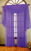Beautiful Purple Elegance Window Sheer Voile Scarf 550cm