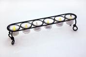 GiftBay Beautiful 6-Votive Glass Holder 11cm High, Black Powder Coated Finish to Celebrate Christmas