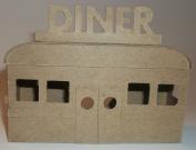 Putz Style Little Village Cardboard House- Diner