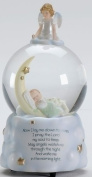 Sweet Dreams Guardian Angel Baby Prayer Musical Music Glitter Globe Snow Globe Plays Brahm's Lullaby