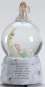 Sweet Dreams Guardian Angel Baby Prayer Musical Music Glitter Globe Snow Globe Plays Brahm's Lullaby