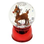 Roman 118750cm - 7.6cm Rudolph Wibble Wobble Colour Changing LED Mini Glitter Dome