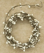 Ivory Vanilla Pip Berry Single Ply Garland 5.5m Country Primitive Floral Décor
