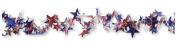 Creative Converting Patriotic Stars Spiral Wire Garland, 7.6m