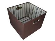 Alexi Ricci Chocolate Brown 13x13x13 Folding Storage Bin