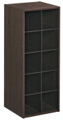 ClosetMaid 1546 Stackable 10 Cube Organiser, Espresso