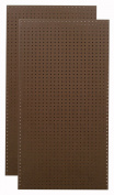 Tempered Wood Pegboard TPB-2BRF 60cm W x 120cm H x 0.6cm D Heavy Duty Commercial Grade Round Hole Pegboards, Brown