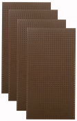 Tempered Wood Pegboard TPB-4BR 60cm W x 120cm H x 0.6cm D Heavy Duty Commercial Grade Round Hole Pegboards, Brown
