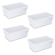 Sterilite 16428012 5.7l Storage Box. Clear - Pack of 4
