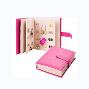 E'Plaza® 42 Pairs Earrings Leather Book Jewellery Display Organiser Ear Studs Storage Book, Portable Book of Earrings Display PU Leather Cover Case Elegant