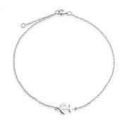 Bling Jewellery Nautical Anchor Anklet Adjustable Sterling Silver Ankle Bracelet 23cm
