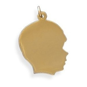 14/20 Gold Filled Engravable Boy's Silhouette Pendant - Made in the USA