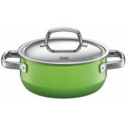 Silit Fresh 4.3l Low Casserole with Lid, Lemon Green