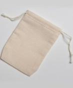 7cm x 10cm Double Drawstring Cotton Muslin Bags 250 Count Pack
