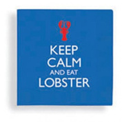 Keep Calm and Eat Lobster Cocktail Beverage Paper Dinner Drink Napkins, Cape Shore