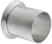 Dixon TL14AM7-200PL Stainless Steel 316L Sanitary Fitting, Automatic Weld Clamp Ferrule, 5.1cm Tube OD