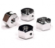 Integy C23598SILVER 12mm Hex Wheel Hub (7mm Thickness) for 1/10 Touring Car and Drifting