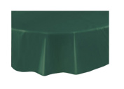 Round Plastic Table Cover. GREEN