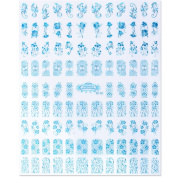 Perfect Summer Brand 108pcs 3D Nail Art Stickers Decals Top Quality Metallic Mixed Designs Nail Tips