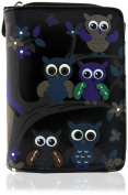 KukuBird Owl Family Tree Pattern Medium Size Ladies Purse Clutch Wallet