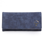 Damara Womens Frosted Leather Wallet Multi-slots Trifold Clutch Purse