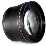 58MM 2.2x Telephoto Conversion Lens for Canon EOS Rebel T6s, T6i, SL1, T5, T5i, T4i, T3, T3i, T1i, T2i, XSI, XS, XTI, XT, 70D, 60D, 60Da, 50D, 40D, 30D, 20D, 10D, 7D, (100D, 300D, 350D, 400D, 450D, 500D, 550D, 600D, 650D, 700D, 750D, 760D, 1000D, 1100D ..