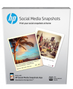 HP Social Media Snapshots Removable Sticky Photo Paper-25 sht/10cm x 13cm