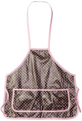 Infantissima Child Apron, Brown Small Pink Dot