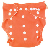 Trend Lab Cloth Nappy, Orange with Blue Liner