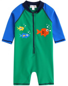 Vaenait Baby 0-24M Infant Boys Longsleeves One piece Swimsuit Baby Green Tang