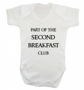 Part of the second breakfast club baby vest bodysuit babygrow