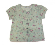 MEXX T-Shirt Baby Butterfly and Flower Print (solid grey)-Girls 62-68 Size